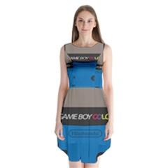 Game Boy Colour Blue Sleeveless Chiffon Dress