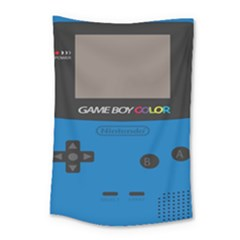 Game Boy Colour Blue Small Tapestry by Samandel
