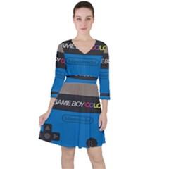 Game Boy Colour Blue Ruffle Dress