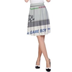 Game Boy White A Line Skirt