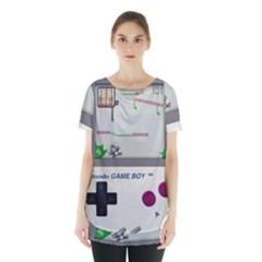 Game Boy White Skirt Hem Sports Top
