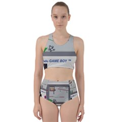 Game Boy White Racer Back Bikini Set