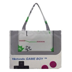 Game Boy White Medium Tote Bag