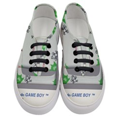 Game Boy White Women s Classic Low Top Sneakers