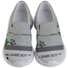 Game Boy White Kid s Lightweight Slip Ons
