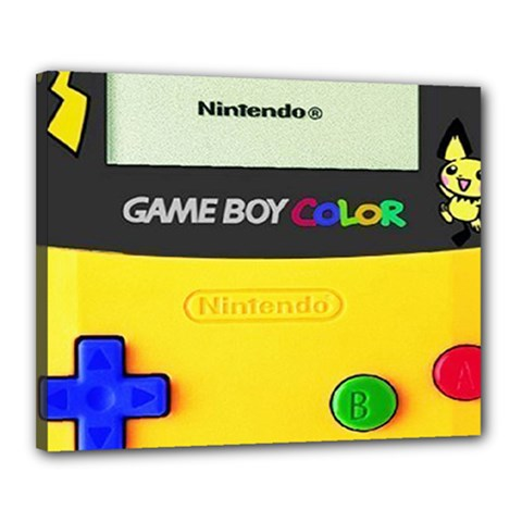 Game Boy Yellow Canvas 20  X 16