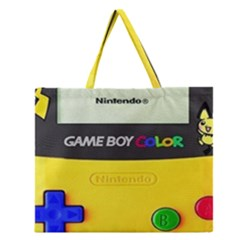 Game Boy Yellow Zipper Large Tote Bag by Samandel