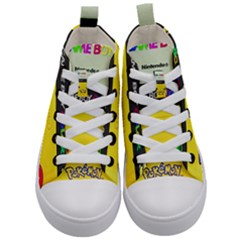 Game Boy Yellow Kid s Mid Top Canvas Sneakers