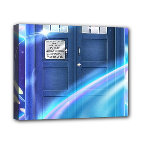 Tardis Space Canvas 10  X 8  by Samandel