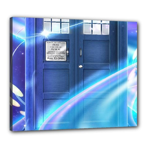 Tardis Space Canvas 24  X 20