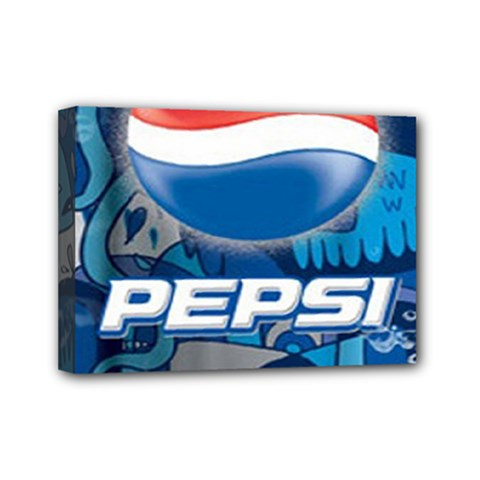 Pepsi Cans Mini Canvas 7  X 5