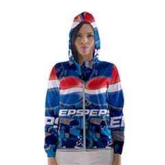 Pepsi Cans Hooded Wind Breaker (women)