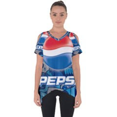 Pepsi Cans Cut Out Side Drop Tee
