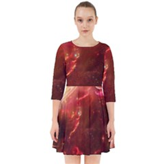 Space Red Smock Dress