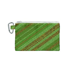 Stripes Course Texture Background Canvas Cosmetic Bag (small)