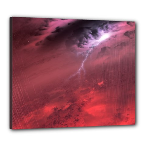 Storm Clouds And Rain Molten Iron May Be Common Occurrences Of Failed Stars Known As Brown Dwarfs Canvas 24  X 20  by Sapixe