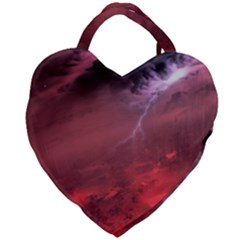 Storm Clouds And Rain Molten Iron May Be Common Occurrences Of Failed Stars Known As Brown Dwarfs Giant Heart Shaped Tote by Sapixe