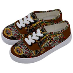 Tattoo Art Print Traditional Artwork Lighthouse Wave Kids  Classic Low Top Sneakers by Sapixe