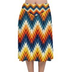 The Amazing Pattern Library Velvet Flared Midi Skirt