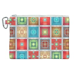 Tiles Pattern Background Colorful Canvas Cosmetic Bag (xl) by Sapixe