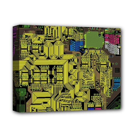 Technology Circuit Board Deluxe Canvas 14  X 11  by Sapixe