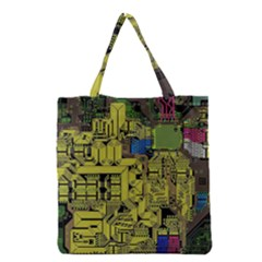 Technology Circuit Board Grocery Tote Bag by Sapixe