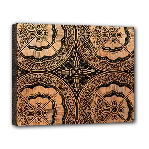 The Art Of Batik Printing Deluxe Canvas 20  X 16   by Sapixe