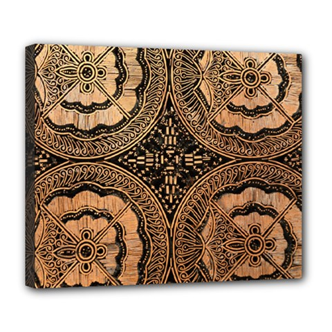 The Art Of Batik Printing Deluxe Canvas 24  X 20   by Sapixe