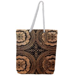 The Art Of Batik Printing Full Print Rope Handle Tote (large)