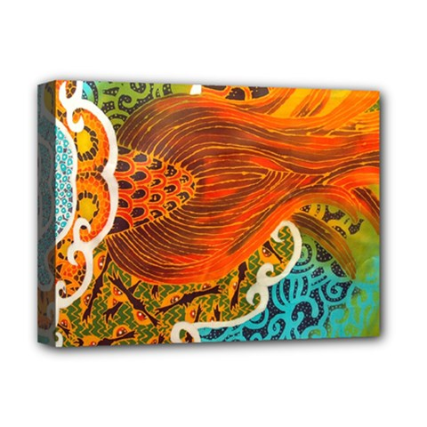 The Beautiful Of Art Indonesian Batik Pattern Deluxe Canvas 16  X 12   by Sapixe