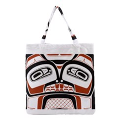 Traditional Northwest Coast Native Art Grocery Tote Bag by Sapixe