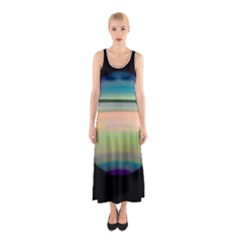 True Color Variety Of The Planet Saturn Sleeveless Maxi Dress by Sapixe