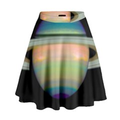True Color Variety Of The Planet Saturn High Waist Skirt by Sapixe