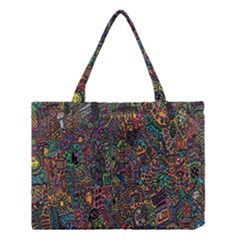 Trees Internet Multicolor Psychedelic Reddit Detailed Colors Medium Tote Bag by Sapixe