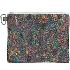 Trees Internet Multicolor Psychedelic Reddit Detailed Colors Canvas Cosmetic Bag (xxxl) by Sapixe