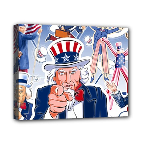 United States Of America Celebration Of Independence Day Uncle Sam Canvas 10  X 8  by Sapixe