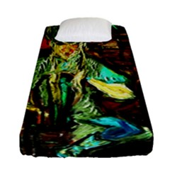 Girl In The Bar Fitted Sheet (single Size)