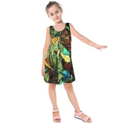 Girl In The Bar Kids  Sleeveless Dress