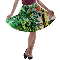 Plant In The Room  A Line Skater Skirt by bestdesignintheworld