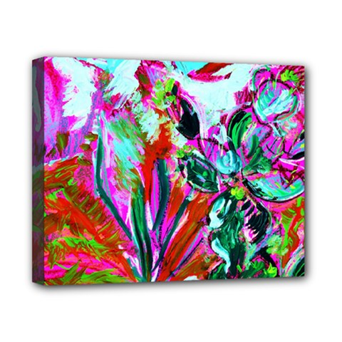 Desrt Blooming With Red Cactuses Canvas 10  X 8  by bestdesignintheworld