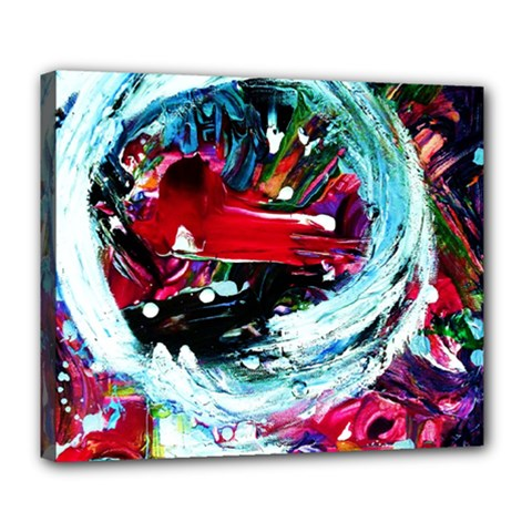Red Aeroplane Deluxe Canvas 24  X 20   by bestdesignintheworld