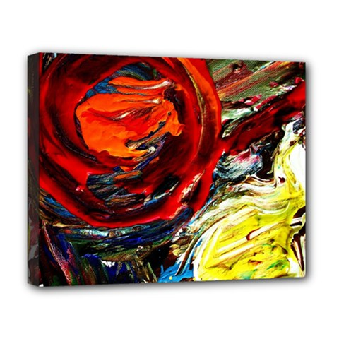 Dscf2280  Red Sun In The Mountain Deluxe Canvas 20  X 16   by bestdesignintheworld