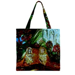 Dscf3179   Royal Marine And Stone Lions Zipper Grocery Tote Bag by bestdesignintheworld