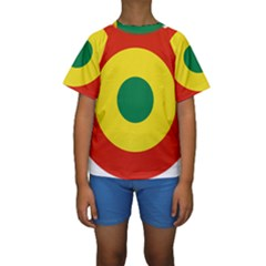 Roundel Of Bolivian Air Force Kids  Short Sleeve Swimwear by abbeyz71