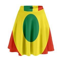 Roundel Of Bolivian Air Force High Waist Skirt by abbeyz71