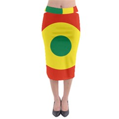 Roundel Of Bolivian Air Force Midi Pencil Skirt by abbeyz71
