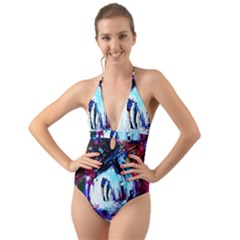 Dscf2355   Funny House Halter Cut Out One Piece Swimsuit by bestdesignintheworld