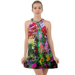 Dscf1239   Desert In A Bloom Halter Tie Back Chiffon Dress