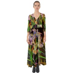 Dscf1378   Irises On The Black Button Up Boho Maxi Dress
