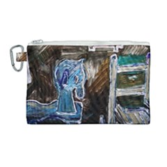 Dscf2546   Toy Horsey Canvas Cosmetic Bag (large)